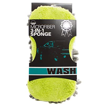 Zwipes Auto 887-3 Professional Microfiber 3-in-1 Super Sponge, 3-Pack: Automotive