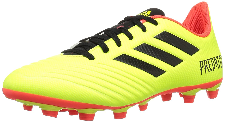 adidas Men's Predator 18.4 Firm Ground Soccer Shoe B0778HDCPY 7.5 D(M) US|Solar Yellow/Black/Solar Red