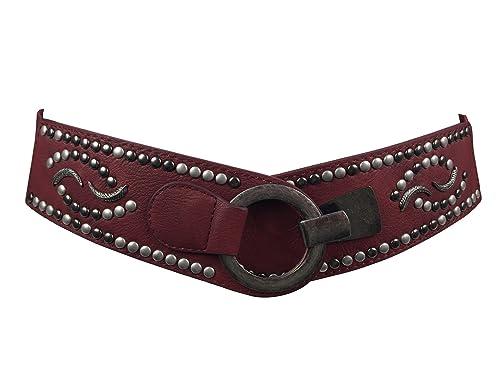 Markenlos - Cinturón - para mujer Bordeaxu Talla única