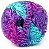 Sunnymi Super Soft Ball Woolen Roving Häkelnregenbogen Wollgarn