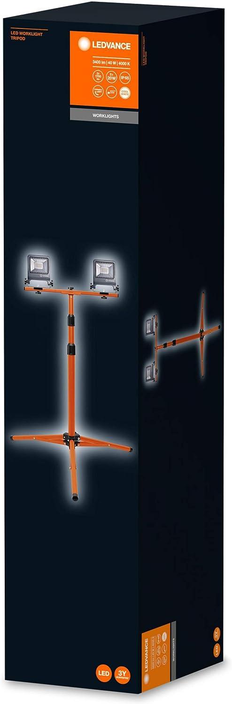 20 Watts Gris fonc/é 1700 Lumens Etanche IP65 LEDVANCE WORKLIGHT Tripod Blanc Froid 4000K Projecteur LED Ext/érieur de Chantier