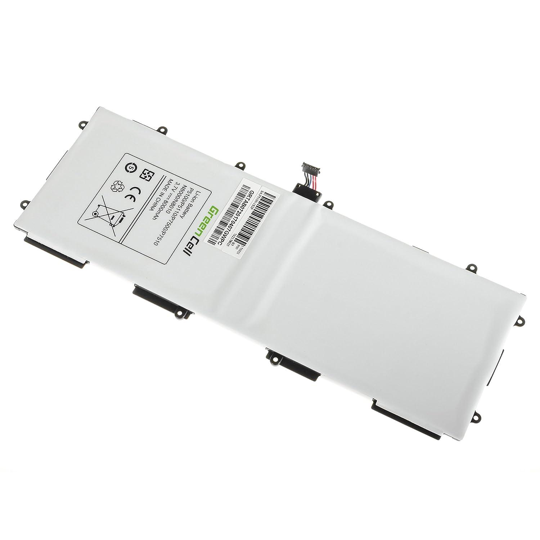 P5110 Tavoletta P7510 Tab 2 P5100 Tab P7500 N8010 8000mAh 3.7V Nero Green Cell/® Batteria GB//T18287-2000 SP3676B1A per Samsung Galaxy Note 10.1 N8000