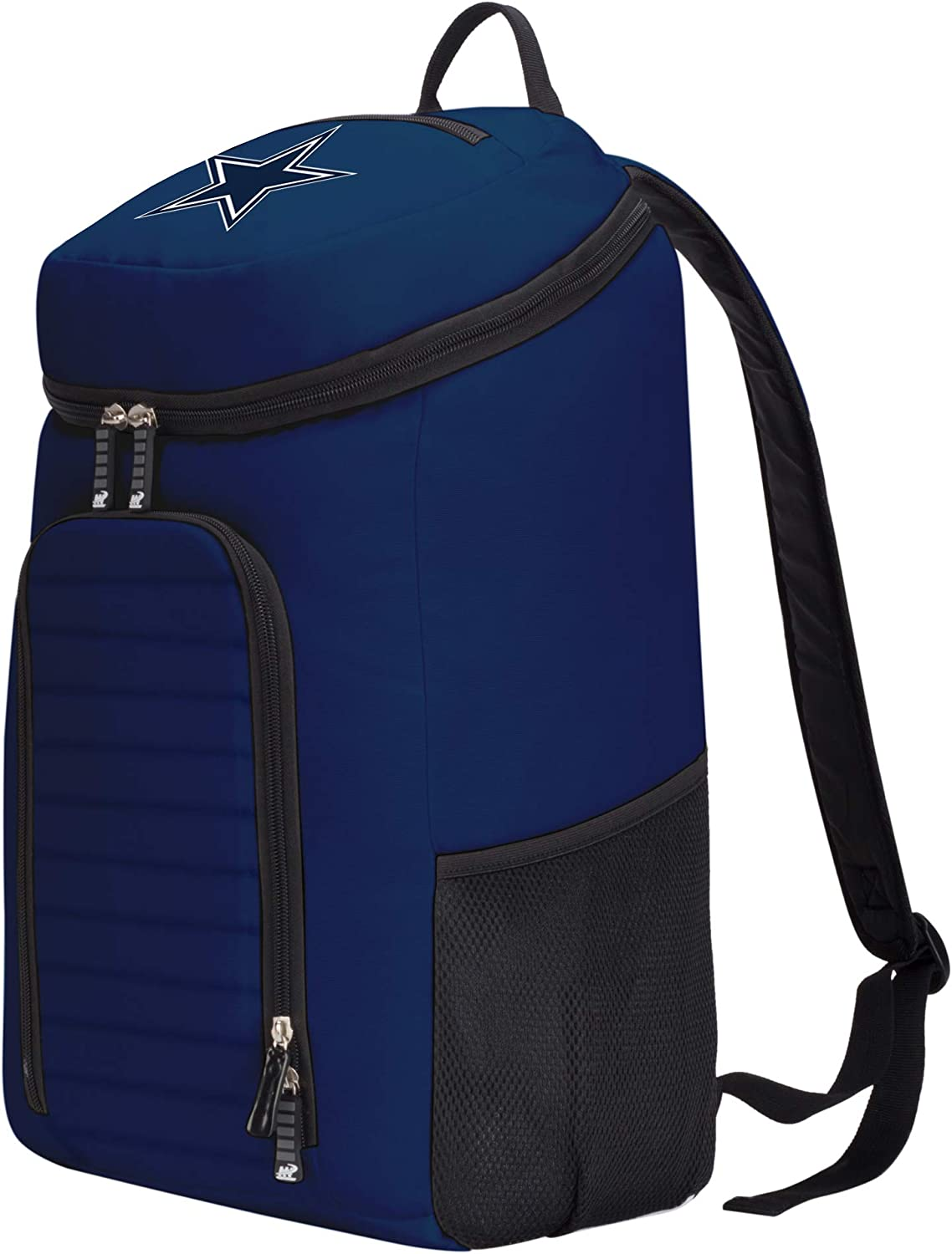 Black Officially Licensed NFL Dallas Cowboys Topliner Backpack 19 x 7 x 11