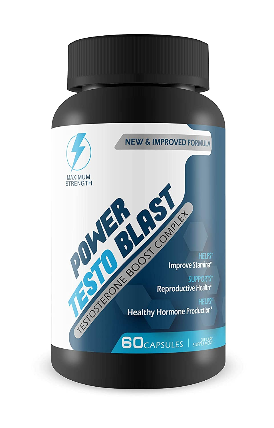 Power Testo Blast- Testosterone Boost Complex- Reproductive Health- Assists Heathy Hormone Production