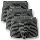 [Separatec] ボクサーパンツ 蒸れない 陰嚢分離型 前開き 綿 306T メンズ 3枚組