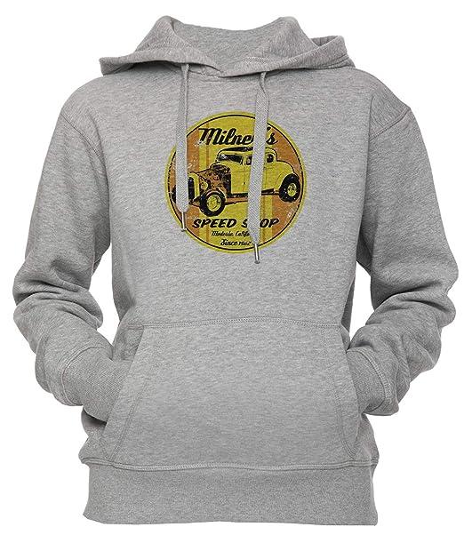 Milners Velocidad Tienda Unisexo Hombre Mujer Sudadera con Capucha Pullover Gris Los Tamaños Unisex Mens Womens Hoodie Grey: Amazon.es: Ropa y accesorios