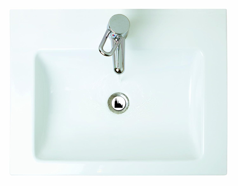 Waschbeckenst/öpsel Design Almgl/ück 40 mm Abfluss-Stopfen aus Metall Excenterstopfen   38