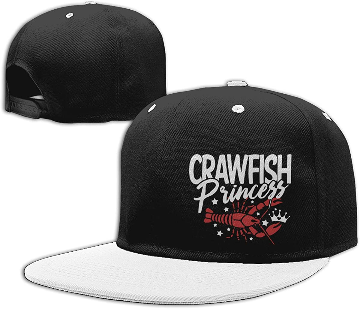 Crawfish Princess Cajun Boil Adults Flat Peaked Baseball Caps Men Womens Punk Rock Cap