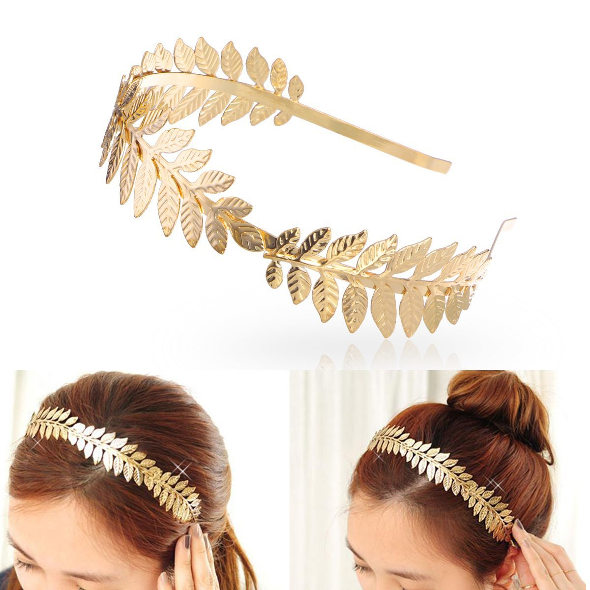 Gold Metal Headband - OS / METALLIC I Saw It First epjPtCT