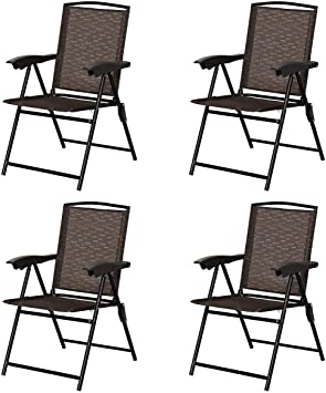 Atlantic foldable garden chairs with mesh and light weight steel coated frame