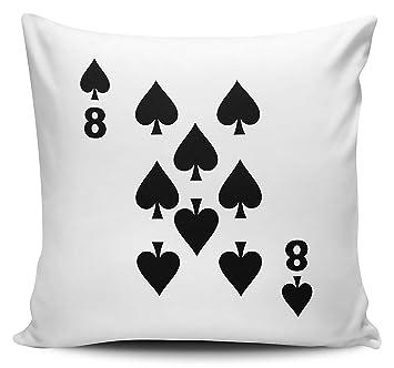 Pack de jugando a las cartas - 8 de picas - Funda para cojín ...