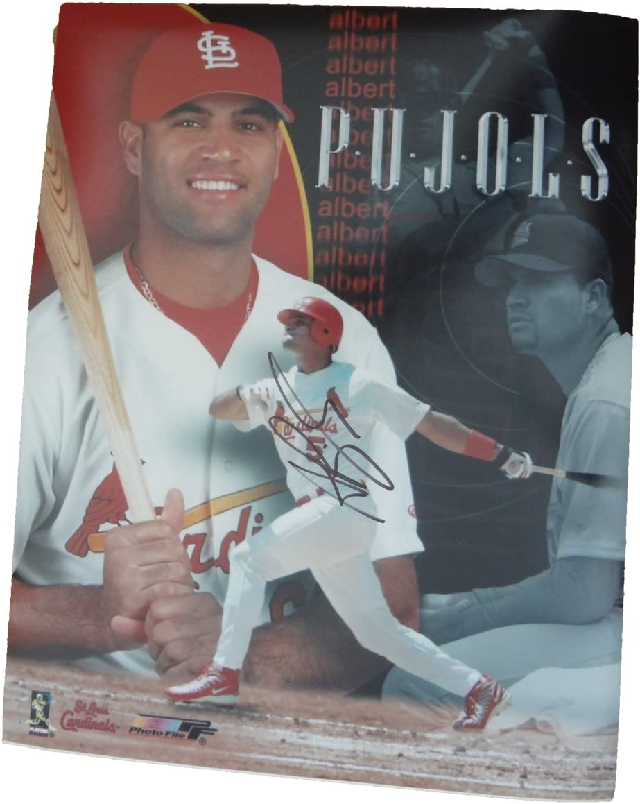 B0095LT2RW Albert Pujols Autographed St. Louis Cardinals 11x14 Photo, St. Louis Cardinals, World Series Champion, NL MVP, Los Angeles Angels Of Anaheim, All Star, Anaheim Angels 711-bHI2BNqL.SL1247_