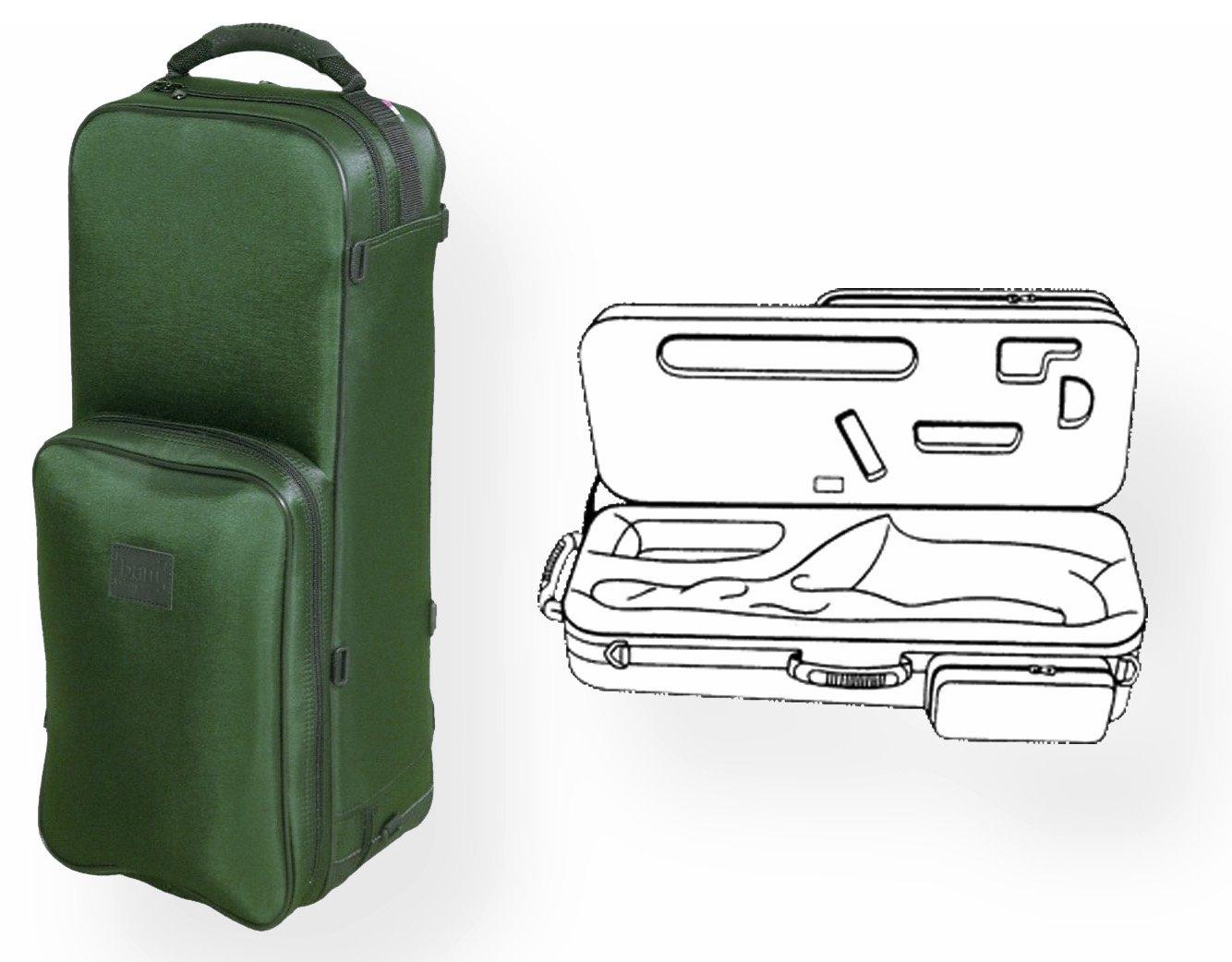 バム トレッキングケース アルトサクソフォン用グリーン BAM TREKKING CASE for ALTO SAXOPHONE B003FBMT3C