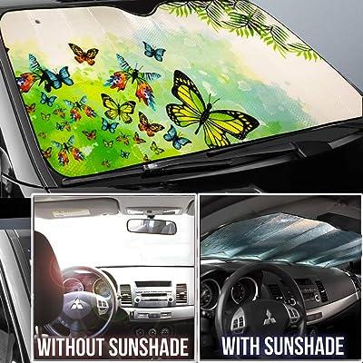 Big Ant Car Sun Shade Windshield Sun Shade Butter-Fly Design ...