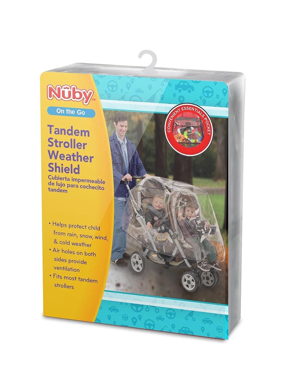 Nuby Tandem Stroller Weather Shield, Clear 120014