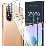 QHOHQ 3 Pack Screen Protector for Xiaomi Redmi Note 10 Pro/Note 10 Pro Max with 3 Packs Camera Lens Protector,Tempered Glass