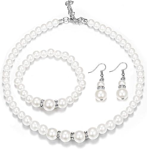 Neu~Armband mit Perlen in weiss*Hochzeit*