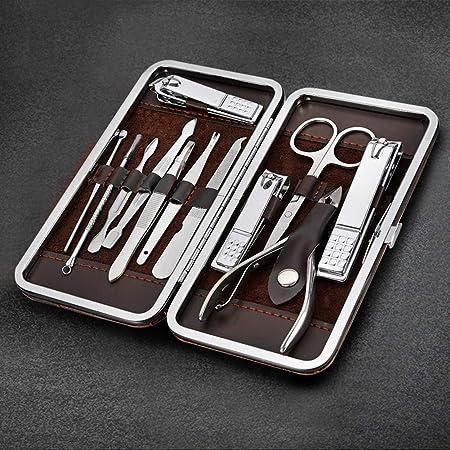 Lomio Juego de manicura para familia, 12 Set de Manicura Pedicura Kit de uñas deAcero Inoxidable, Profesionales Manicura Kit: Amazon.es: Electrónica