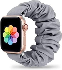 Huishang Scrunchie Band Compatible with Apple Watch 38mm 40mm,Soft Women Replacement Elastic Wristband for Apple iWatch Series 6 SE 5 4 3 2 1