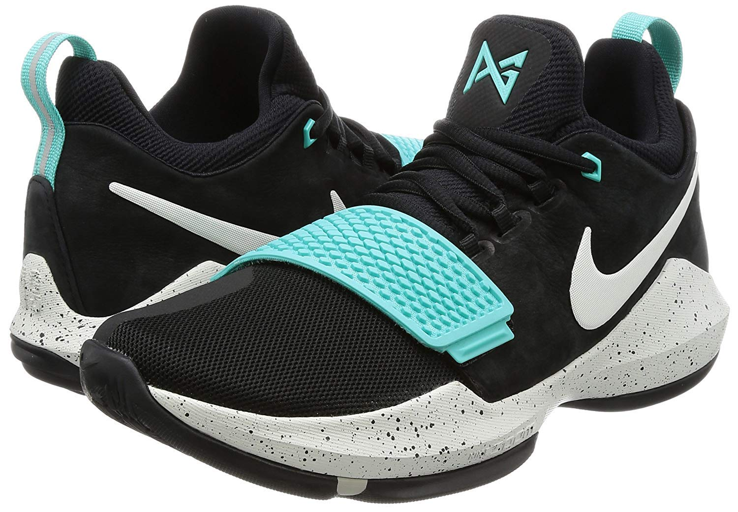 a594d17030a2e4 Galleon - Nike Mens Paul George PG1 Basketball Shoes Black Anthracite Gum  Light Brown Black 878627-004 Size 13