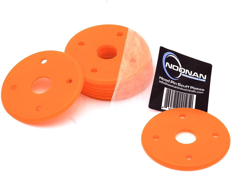 Noonan Industries Hood Pin Scuff Plate Fluorescent Orange Pack of 10
