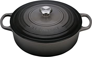 Le Creuset Enameled Cast Iron Signature 6.75QT. Round Wide Oven - Oyster