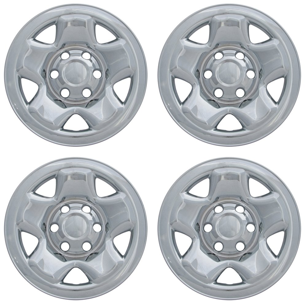 OxGord 16 inch Hubcap Wheel Skins for 2000-2016 Toyota Tacoma-(Set of 4) Wheel Covers- Car Accessories for 16inch Chrome Wheels- Auto Tire Replacement Exterior Cap Cover by OxGord