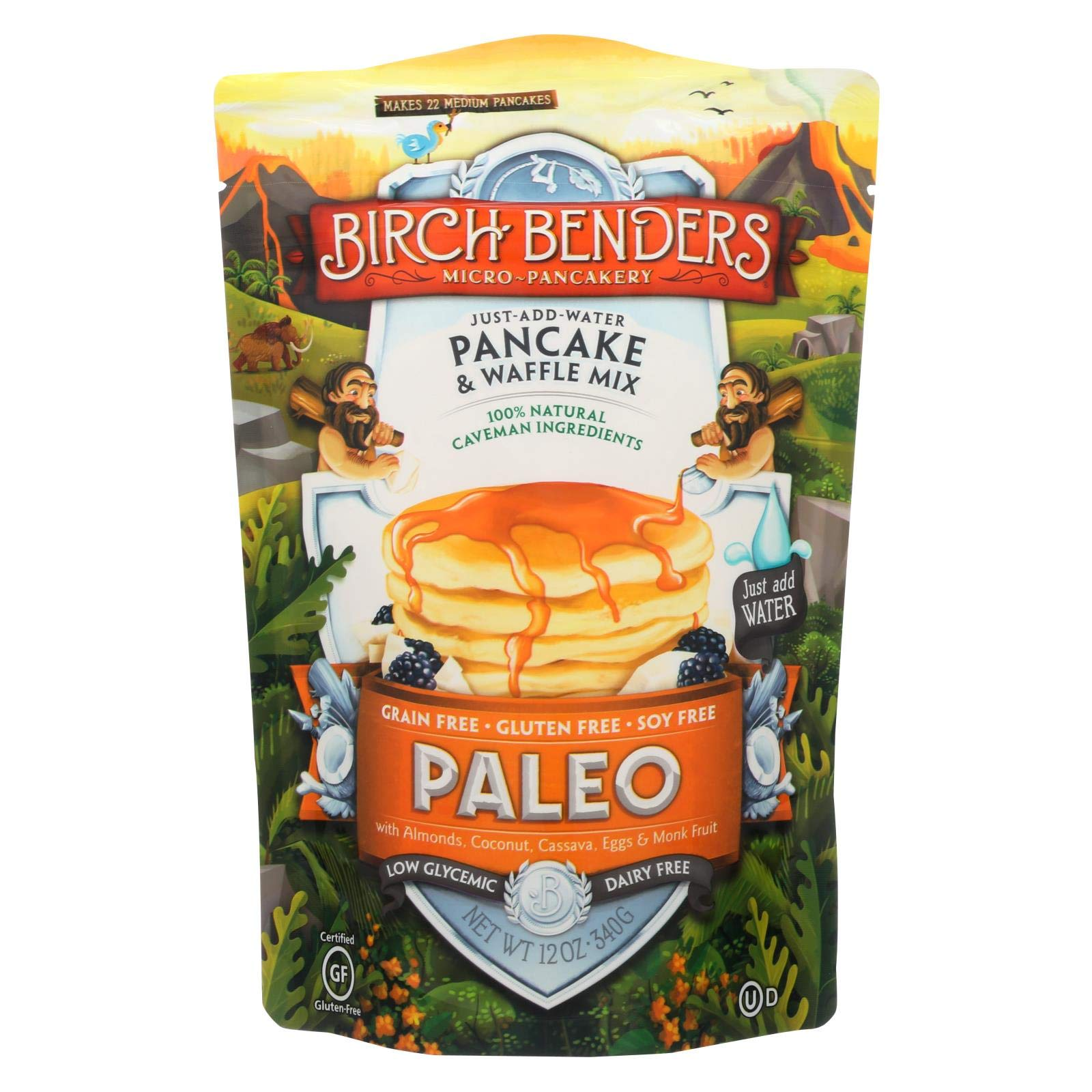 Birch Benders - Pancake And Waffle Mix - Paleo - Case Of 6 - 12 Oz by Cantu