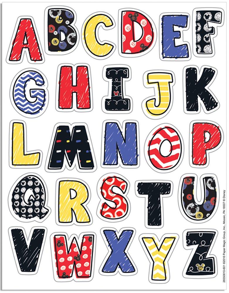 Eureka Mickey Color Pop! Stickers, Alphabet (655081)