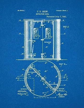 Amazon com: Revolving Door Patent Print Blueprint (18
