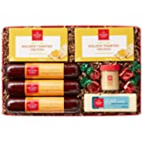 Hickory Farms Holiday Celebration Sausage, Cheese, and Crackers Box Tray 1.45 lbs