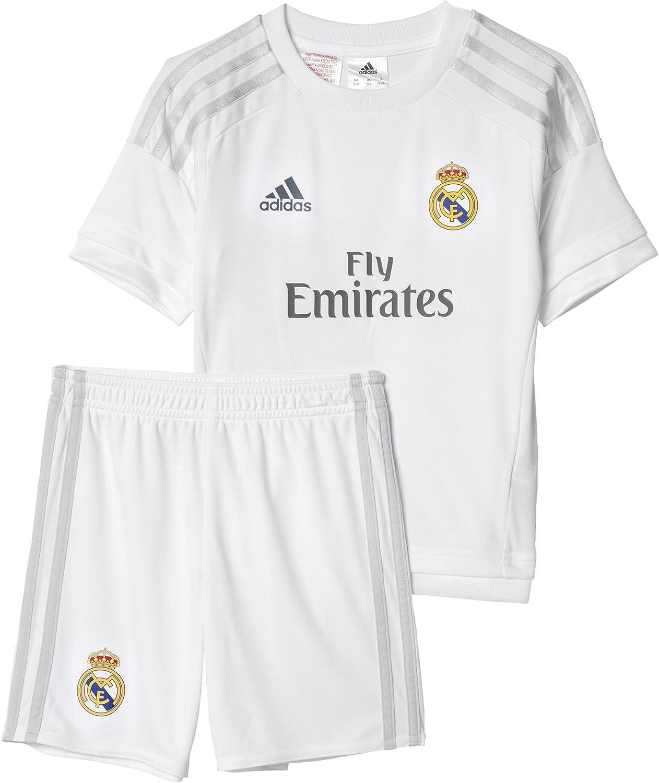 adidas 1ª Equipación Real Madrid CF Mini - Conjunto: Amazon.es ...