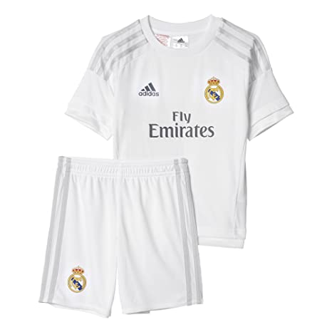 6580d2738c5 Amazon.com   adidas 2015-2016 Real Madrid Home Mini Kit   Sports   Outdoors