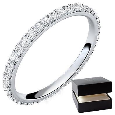 Silber Ring 925 Verlobungsringe Silber Von Amoonic Mit Zirkonia