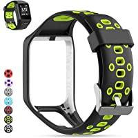 Tomtom Watch Strap, MOGOI [2019 Upgraded] Soft Silicone Watch Band Replacement Wristband Sport Bracelet for Tomtom Runner 2/ Runner 3/ Spark 3/ Adventurer/Golfer 2 Sports GPS Running Smartwatch