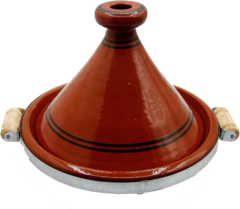 Tajine 2910201103 Marocain Casserole en terre cuite Taille XL 32 cm