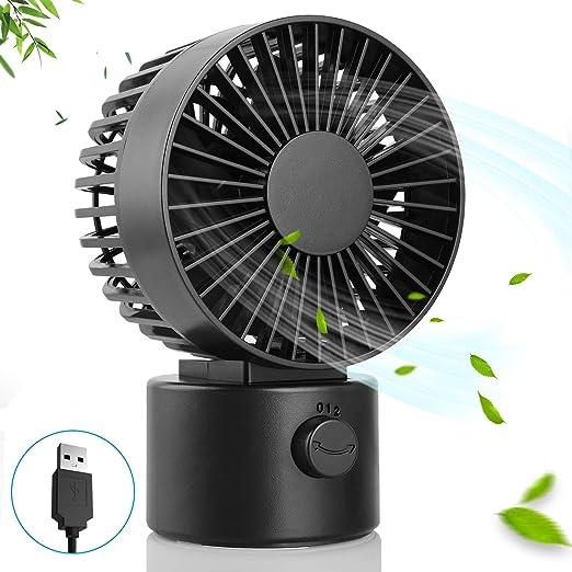 Hianjoo Ventilador USB Mini con 2 Velocidades, Portátil Ventilador de Escritorio Enfriador de Aire de Mesa, ángulo Ajustable 1.7m USB Cable Ventilador de Enfriamiento para Hogar Oficina Escuela, Negro: Amazon.es: Hogar