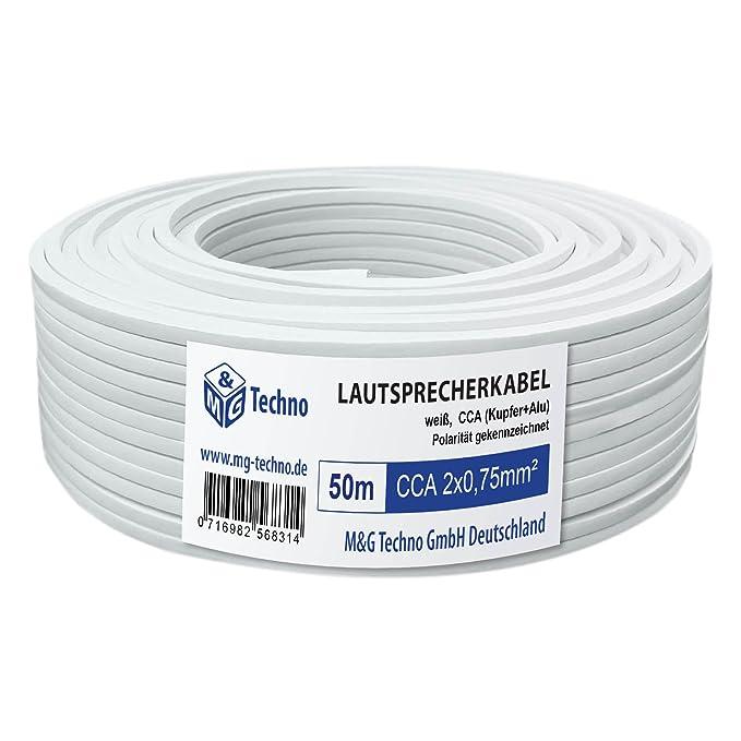 transparent 2x2,5mm² Lautsprecherkabel 10m 100/% CCA Kupfer ; Audiokabel