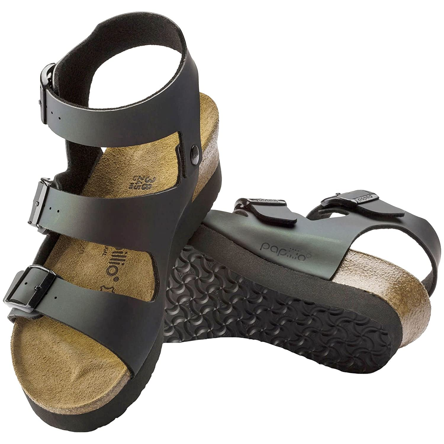 4bb5aa17578b Papillio Womens by Birkenstock Linnea Iridescent Black Birko-Flor Sandals  38 EU  Amazon.co.uk  Shoes   Bags