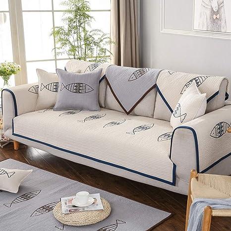 Funda Protectora para sofá de algodón, Antideslizante ...