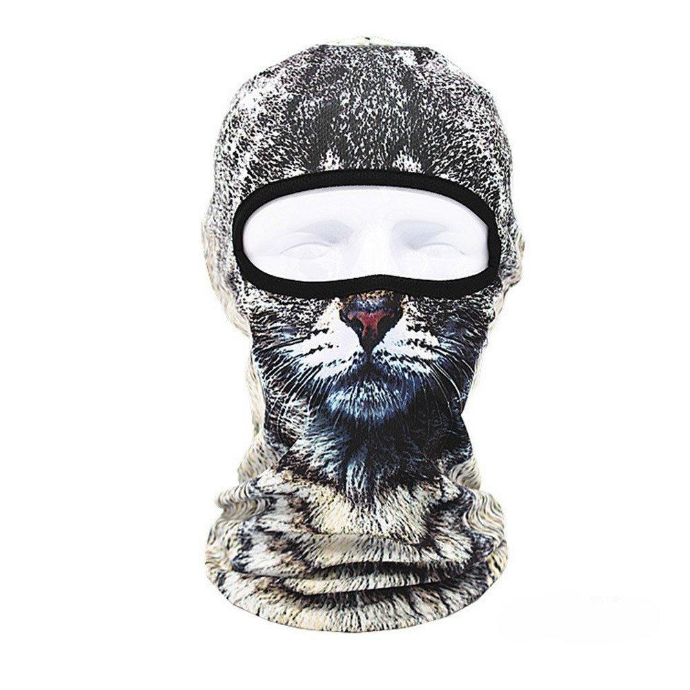 Colorful(TM) 3D Tier Outdoor Ski Masken Fahrrad Radfahren Beanies Winter Windstopper Gesicht Hüte,Sturmmaske, Skimaske, für Radfahren