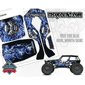 Freqeskinz 20528 sKinz True Fire Blue Design Axial Wraith