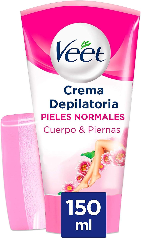 Veet Crema Depilatoria Corporal para usar bajo la ducha para Mujer, Piel Normal, 150 ml: Amazon.es: Belleza