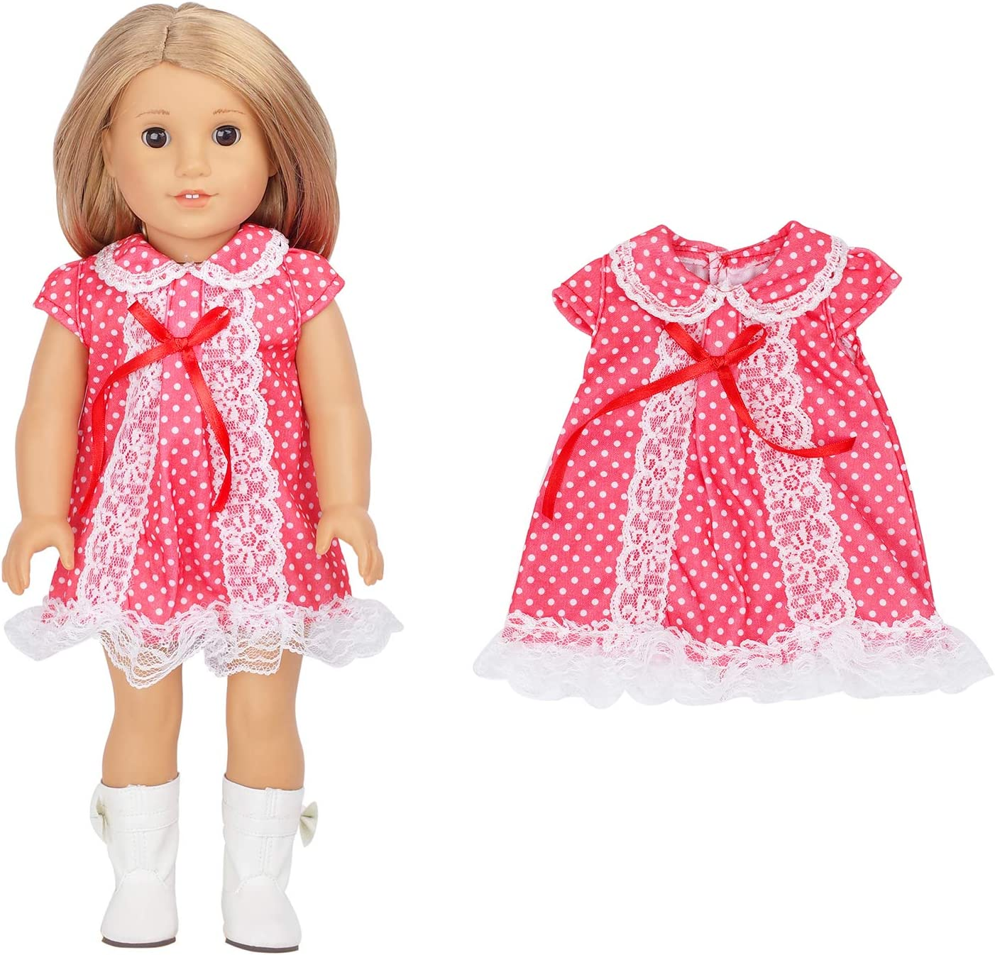 18 inch Doll Clothes Outfits ELOPELY 10pcs American Doll Clothes for 18 inch Doll Dresses Clothes and Accessories