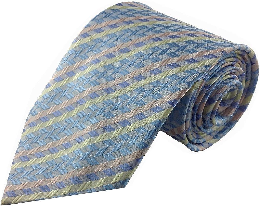 Azul y rosa pastel colores rayas corbata de seda: Amazon.es: Ropa ...