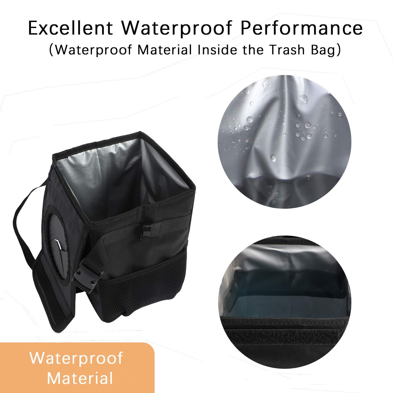 geruchsneutral Auslaufsichere Auto-M/ülltonne wasserdichter Auto-M/ülleimer f/ür Autos geeignet. Aufbewahrungstasche und Einkaufst/üte mit Deckel und Aufbewahrungstaschen
