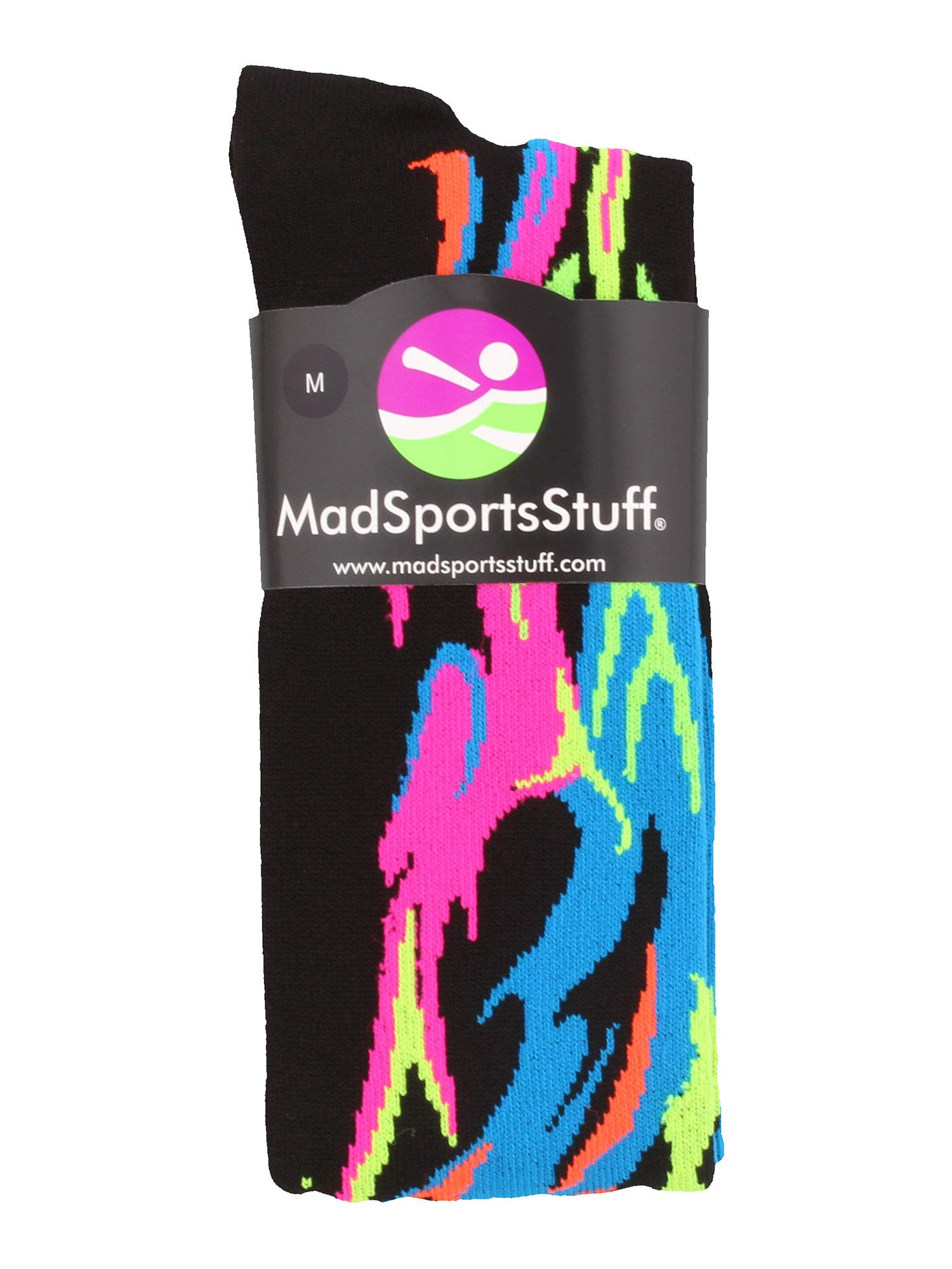 MadSportsStuff Flame Socks Athletic Over The Calf Socks (Multiple Colors) 4