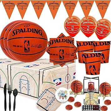 Paquete de suministros para fiesta de baloncesto Spalding y ...