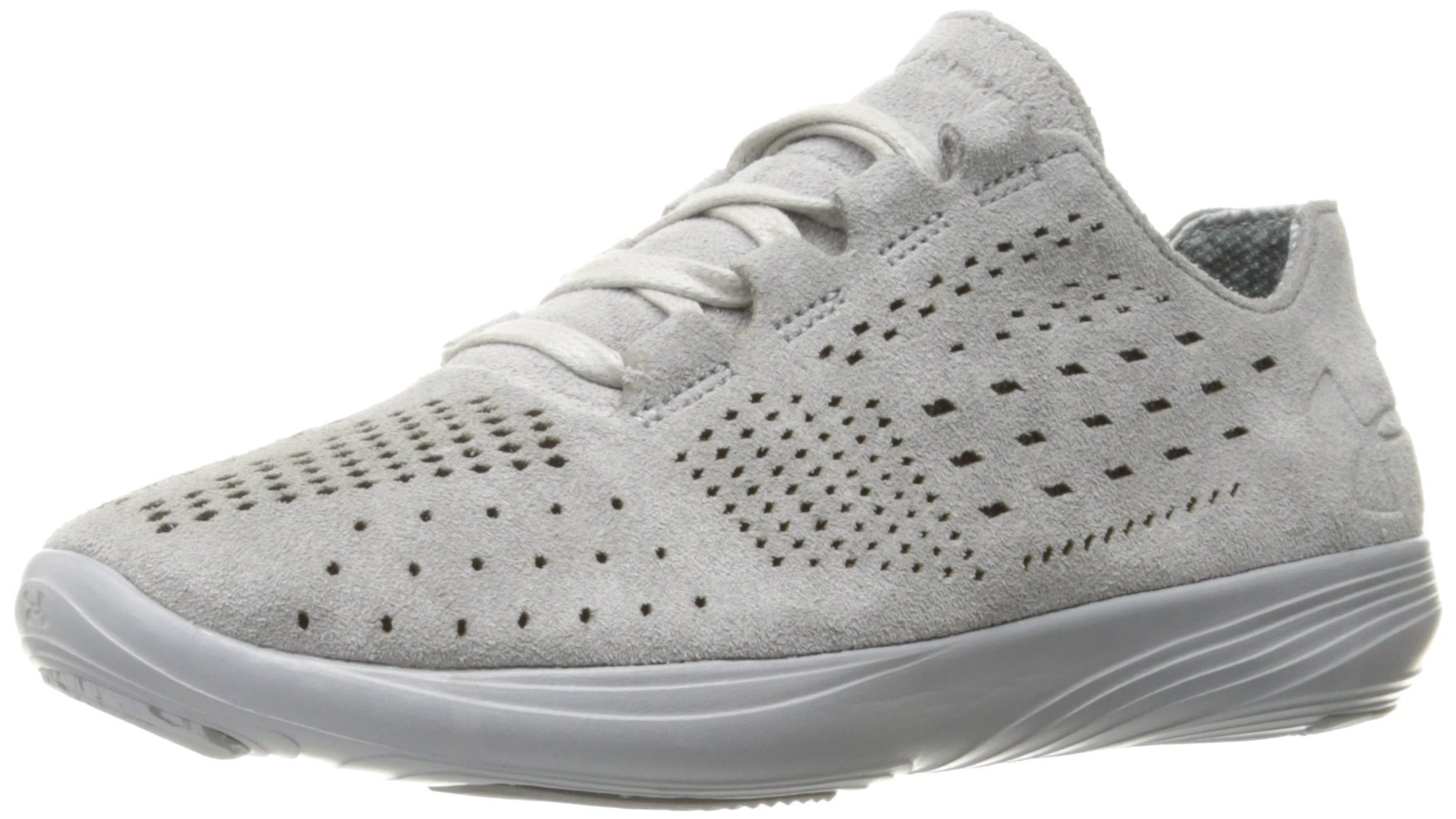 Under Armour Women's Street Precision Low Lux Sneaker, Gray, 7.5