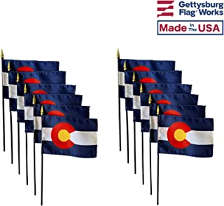 product image for 4x6 E-Gloss Colorado Stick Flag - Flag Only - Qty 12